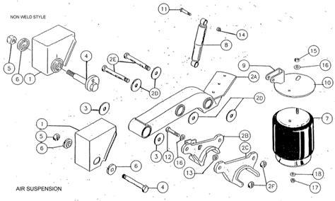 trailer suspension parts diagram air suspension