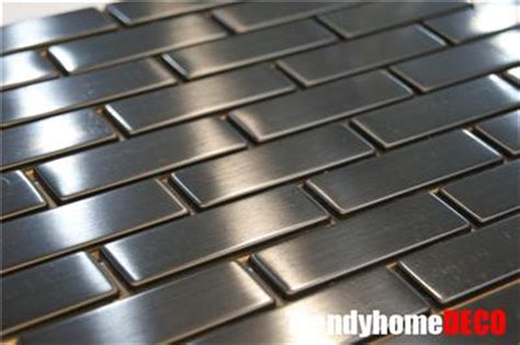 Stainless Steel Brick Backsplash by Sle Stainless Steel Brick Subway Mosaic Tile Kitchen