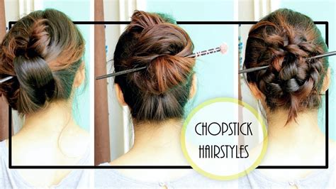 how to create hair stick hairstyles tips to jazz up hairst diy chopstick hairstyles summer updo youtube