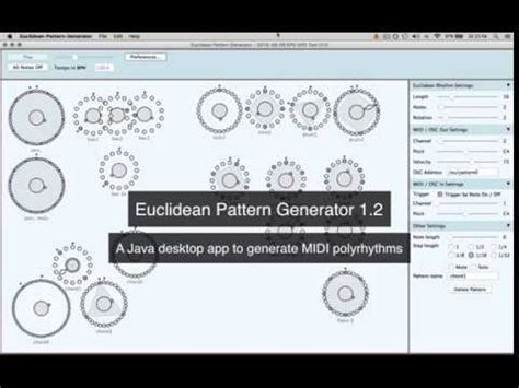 euclidean pattern generator euclidean pattern generator 1 2 youtube