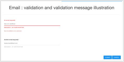 email validation easy form generator npm