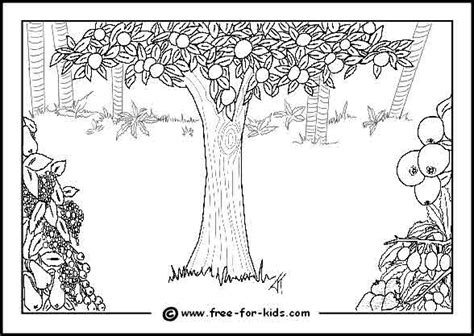 adam and eve colouring pages
