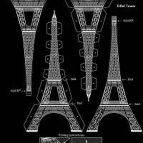 printable 3d black and white eiffel tower pdf inexpensive