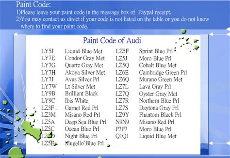 audi color code location audi free engine image for user manual