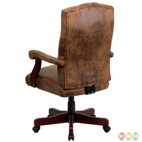 classic chair bomber brown classic executive office chair 802 brn gg