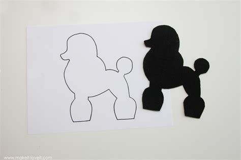 poodle applique template costume ideas low sew poodle skirt make