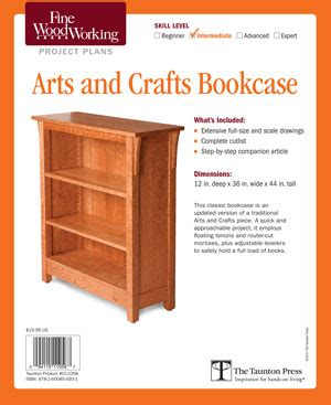 arts and crafts woodworking pdf diy arts and crafts bookcase plan woodworking plan
