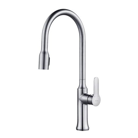 kraus kitchen faucets kraus nola single handle concealed pull kitchen faucet with dual function sprayer in chrome