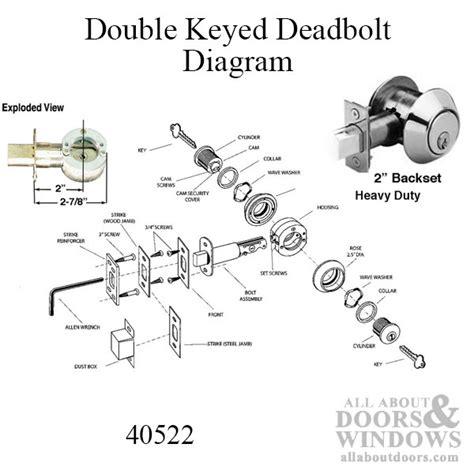 national hickman spares door lock deadbolt 2 inch backset heavy duty key choose