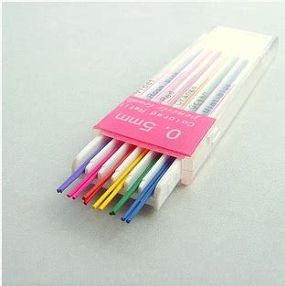 colored lead for mechanical pencils free shipping office colour mechanical pencil lead 0 5mm 0