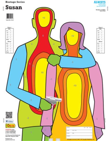 printable targets hostage hostages 10 pack gunfun shooting targets