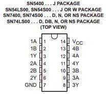 74ls00 integrated circuit chip datasheet 74ls00 datasheet pdf ti datasheetbank