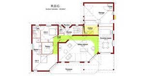plan d une en 3d avec 5 chambre maison moderne