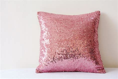Glittery Pillows by Pink Shiny Sequin Pillow Cover Pink Decor
