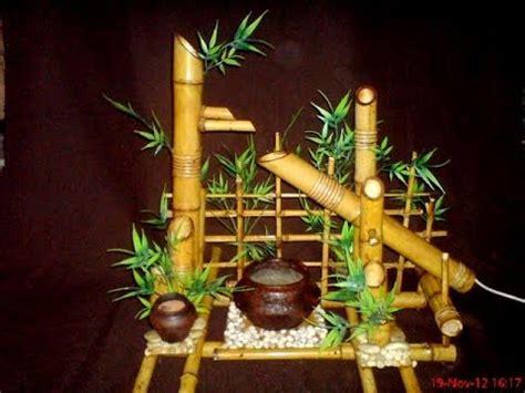 Air Mancur Bambu Coklat Unik handicraft ukm indonesia air terjun bambu