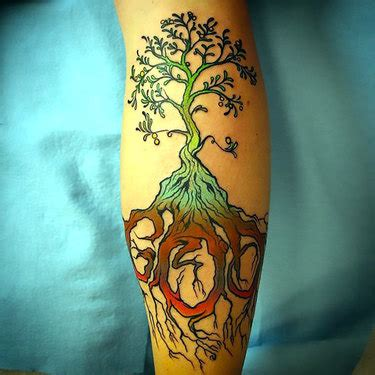 calf tattoo family tree 37 great tree tattoo ideas