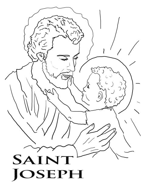 Saint Joseph Coloring Page Az Coloring Pages St S Day Coloring Pages For On