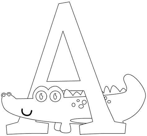 A Is For Alligator Coloring Page Coloring Com A Is For Coloring Pages
