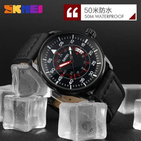 Jam Tangan The Leather Brown Black skmei jam tangan analog pria 9113cl black brown jakartanotebook