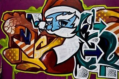 graffiti inspiration santa claus graffiti mural designs