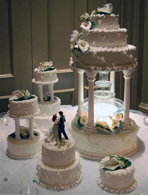 Cake Tier Cake Fontain Plastik Putih four tier water butter wedding cake decorated with wedding wonders