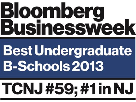 Bloomberg Businessweek Mba Rankings 2013 by Tcnj School Of Business Ranks 1 In New Jersey