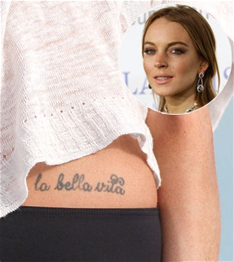 lindsay lohan tattoos celebritiestattooed com