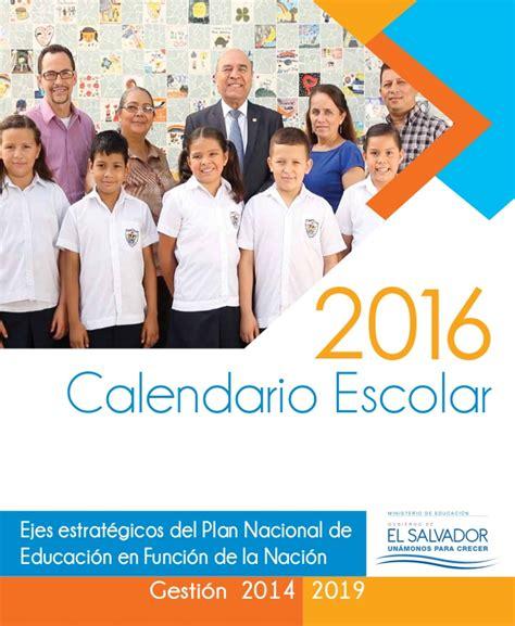 caratula escolar 2016 calendario 2016 con caratula