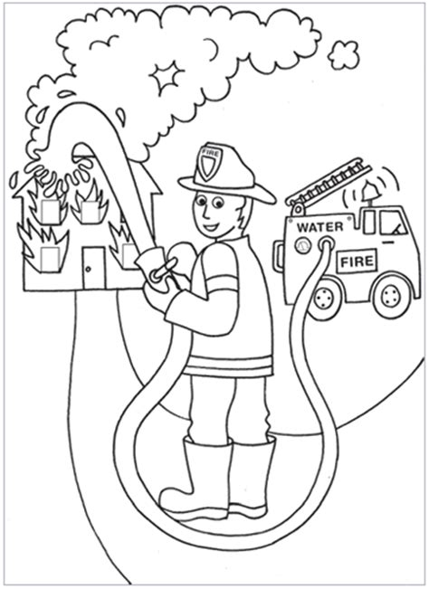 coloring pages proyecto bomberos firefighters theme