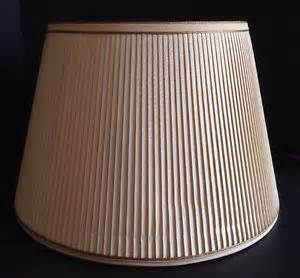 Vintage stiffel mid century modern cream pleated drum shade for table