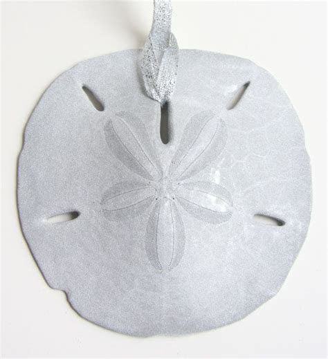 beach decor silver sand dollar christmas ornament beach
