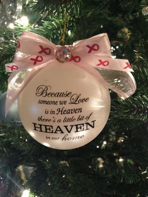 in heaven ornament because someone we is in heaven ornament item 1bcs