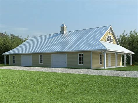 Large Garage With Living Quarters by Large Barn Plans Barn Plans Vip