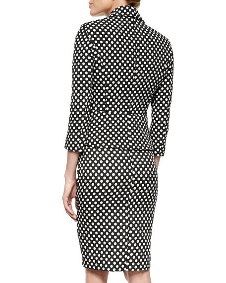 Peplum Polkadot albert nipon polka dot peplum jacket skirt suit set