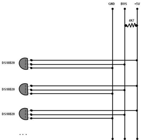 ds18b20 resistor how many ds18b20 temperature sensors can i connect to one arduino electrical engineering