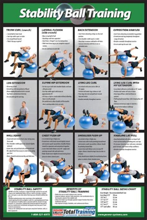 printable exercise ball routines power systems stability ball training poster dp fitness
