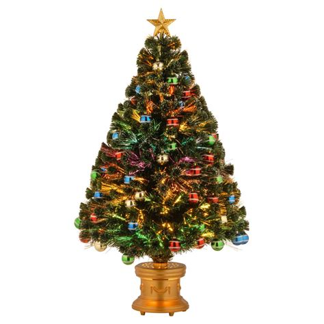 wilkos fiber optic christmas trees fiber optic ornament fireworks pre lit tree 4 ft ebay