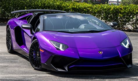 lamborghini purple lamborghini ad personam builds purple aventador sv roadster