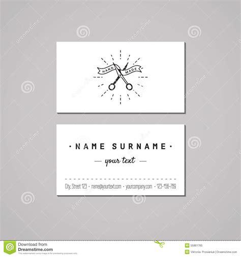 Handmade Card Company Names - handmade business card design concept handmade logo with