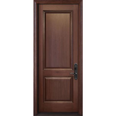 Custom Size Exterior Doors Fiberglass A Premium High Quality Single Oak Wood Grain Entry Door With 2 Panels Fr05