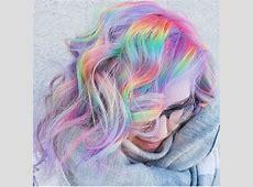 pastel rainbow hair | Tumblr Rainbow Hair Tumblr