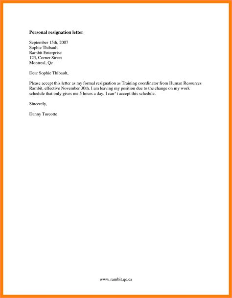 4 simple immediate resignation letter sle resign
