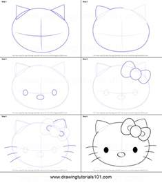draw kitty face printable step step drawing sheet drawingtutorials101