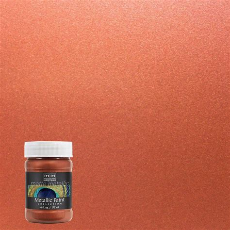 Wandfarbe Metallic Kupfer by Modern Masters 1 Gal Metal Effects Oxidizing Copper Paint