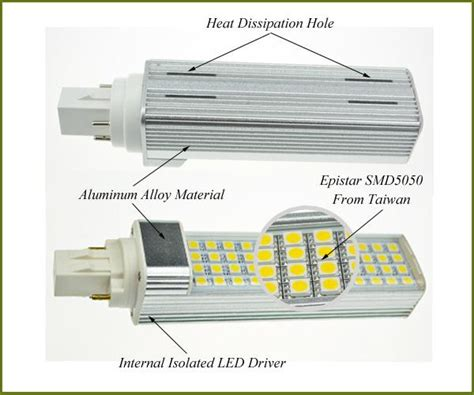 Krisbow Bohlam Led 11w 3000k replace 26w cfl 3000k 6400k smd5050 pl led light bulb 11w gx23 2 pin 120 277volt