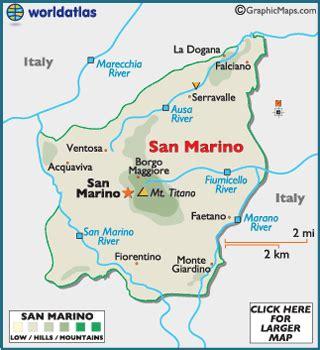 san marino on map of europe san marino map geography of san marino map of san