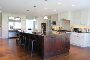 Kitchen Island With Cabinets And Seating Two Tone Kitchen Architecture By Janak
