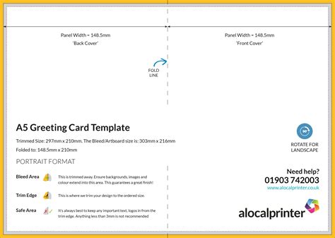 Docs A6 Card Template by Jalp A5 Greeting Card Professional And High Quality