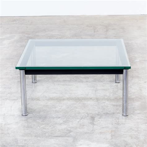 le corbusier side table 80s le corbusier lc10p no 3965 coffee table glass for