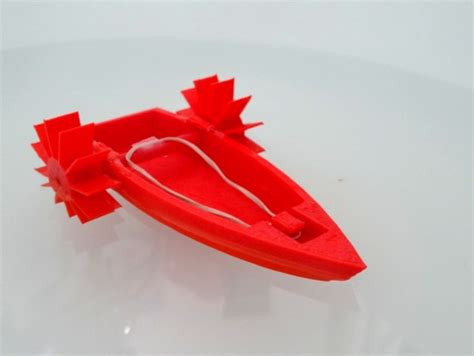rubber band boat rubber band powered boat by mrfox thingiverse